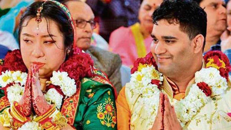china virus, coronavirus, wuhan, chinese woman marries in india