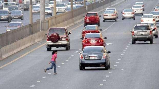 run over accident, abu dhabi, uae, traffic fines, traffic laws