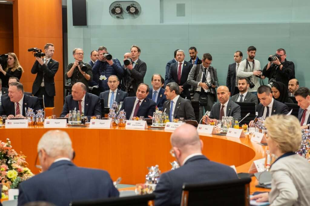 uae, libya summit, berlin, germany, haftar, mena