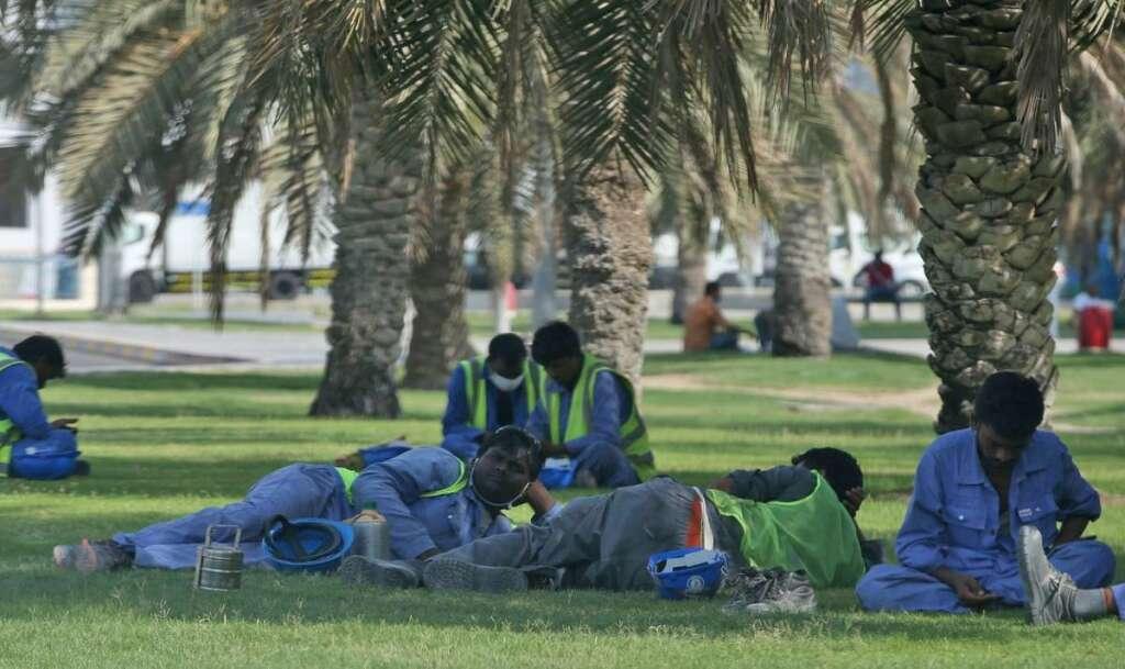 uae, midday break, dubai, workers, labour rights, summer break