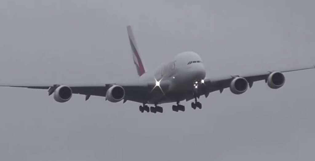 emirates airline, dubai carrier, ireland, atiyah gale storm, skilled landing