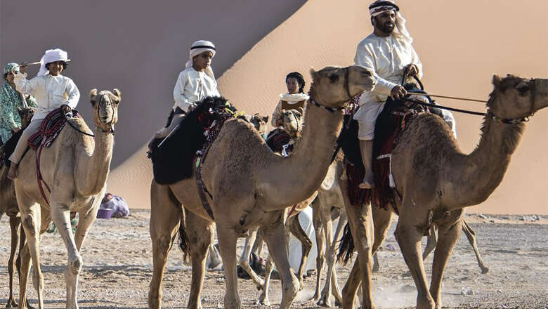 dubai, uae desert trek, camel trekking in uae