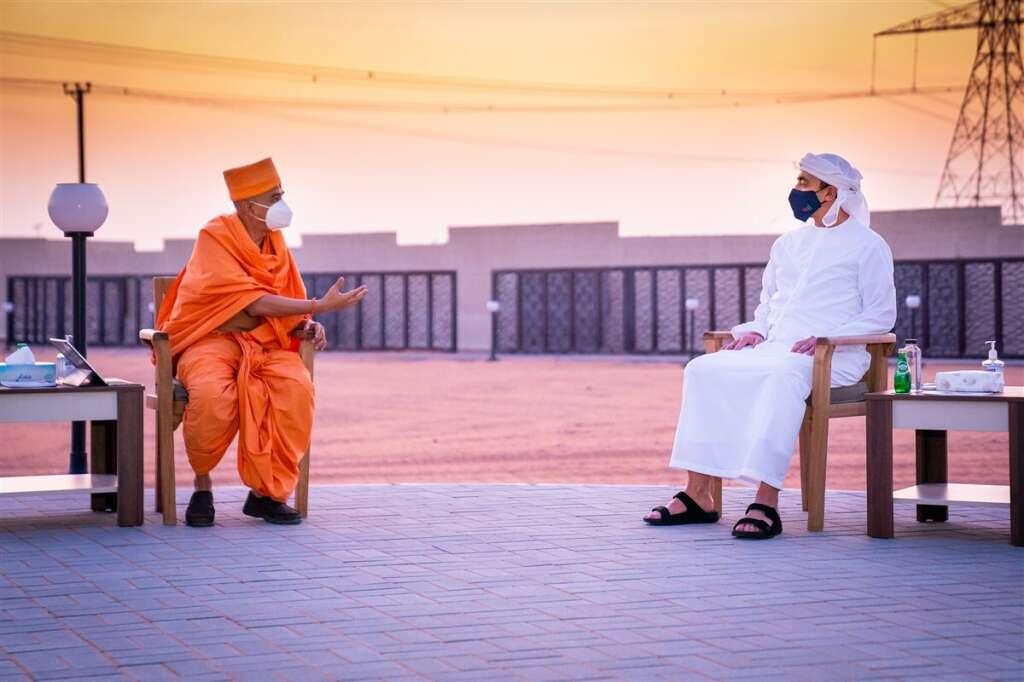 sheikh abdullah, uae, hindu temple, expats, indians