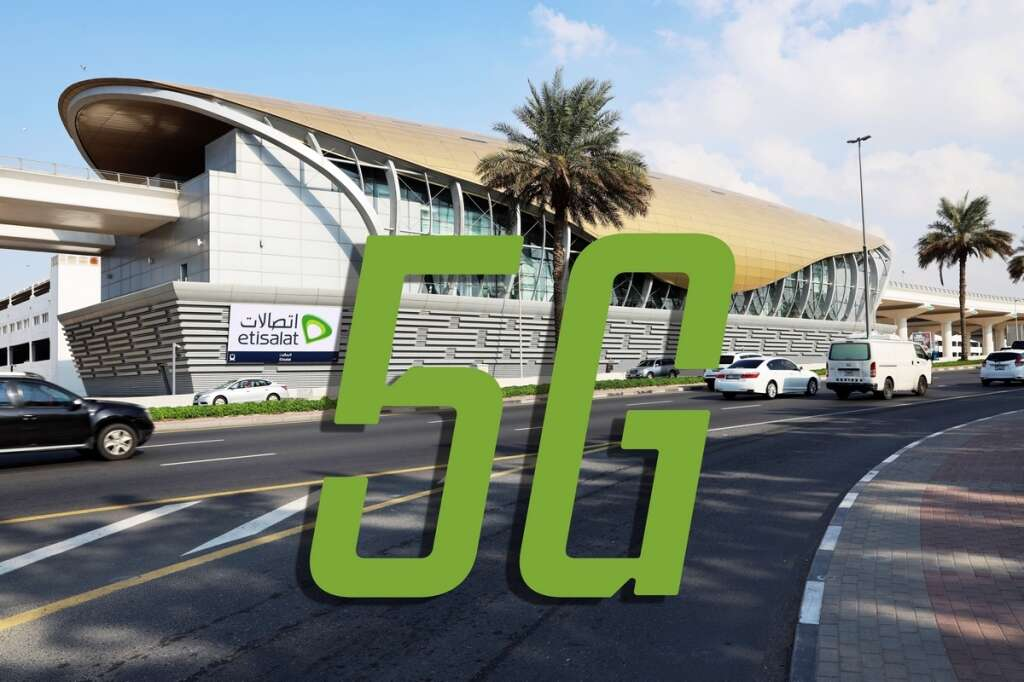 Dubai Metro, Etisalat station, 5G in UAE, mobile internet, mobile data in uae