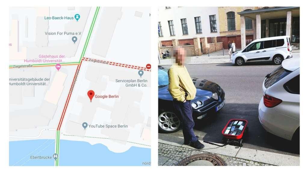 Simon Weckert, google traffic map hack