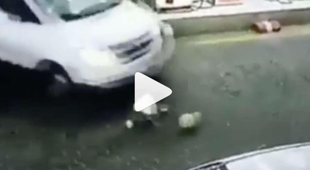 saudi, accident, girl gets run over