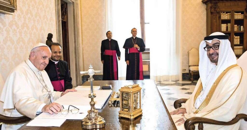pope, sheik mohamed, coronavirus in italy, coronavirus in uae