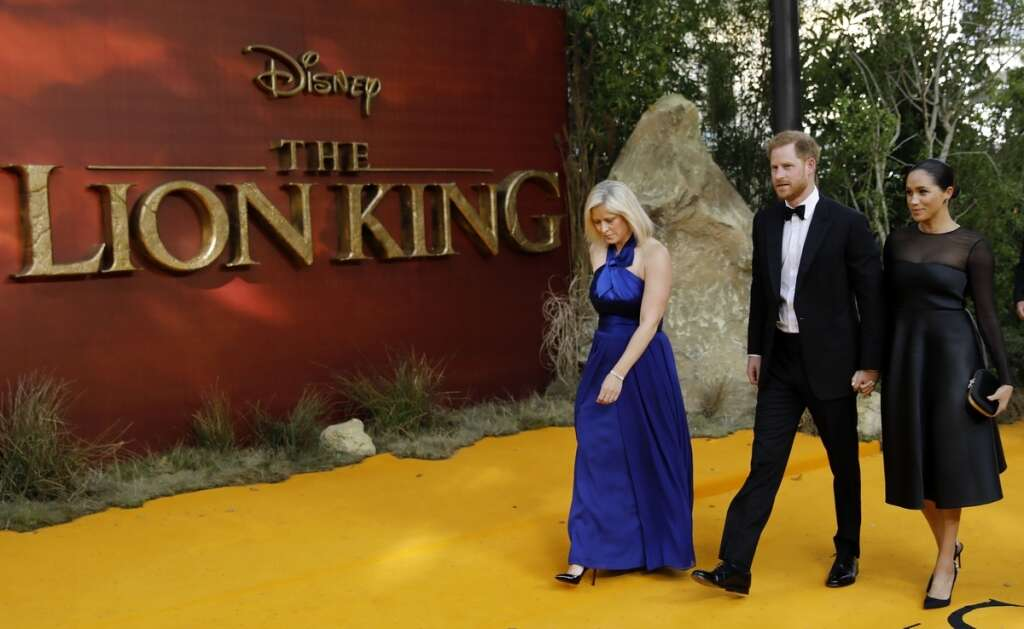Britains Prince Harry and Meghan, Duchess of Sussex attend the European premiere of The Lion King in London. Reuters