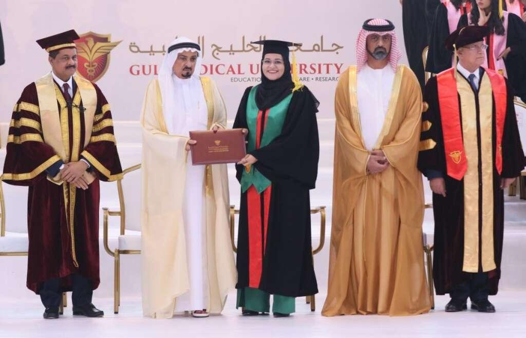 uae, ajman university, gulf medical university, thumbay group