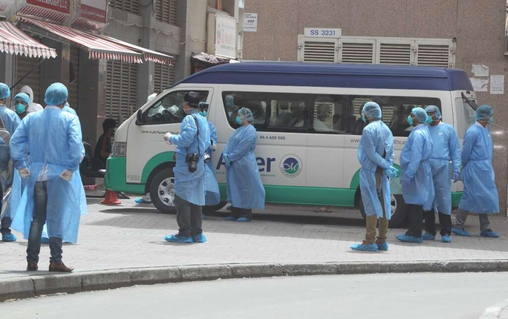 coronavirus in uae, dubai fights covid19, al naif road covid19 inspection