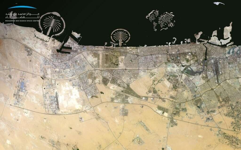dubai. abu dhabi, satellite images