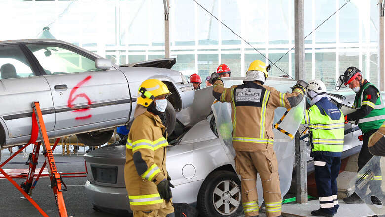 dubai police, uae rescue competition, dubai crash