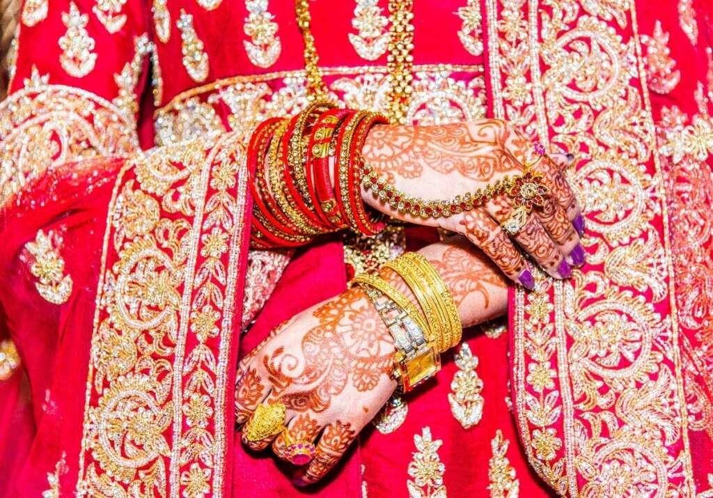 india, woman marries man, groom late