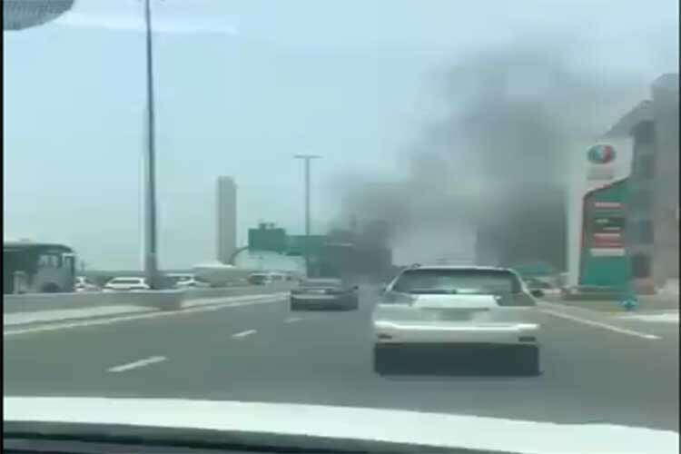 car fire, dubai traffic, uae