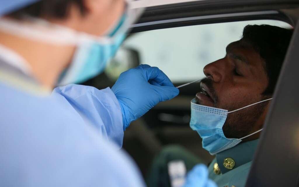 uae fights covid19, coronavirus test centre in uae, 5-minute covid test uae
