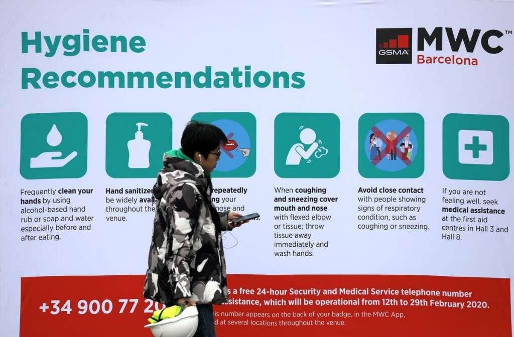 mobile world congress, coronavirus, barcelona,