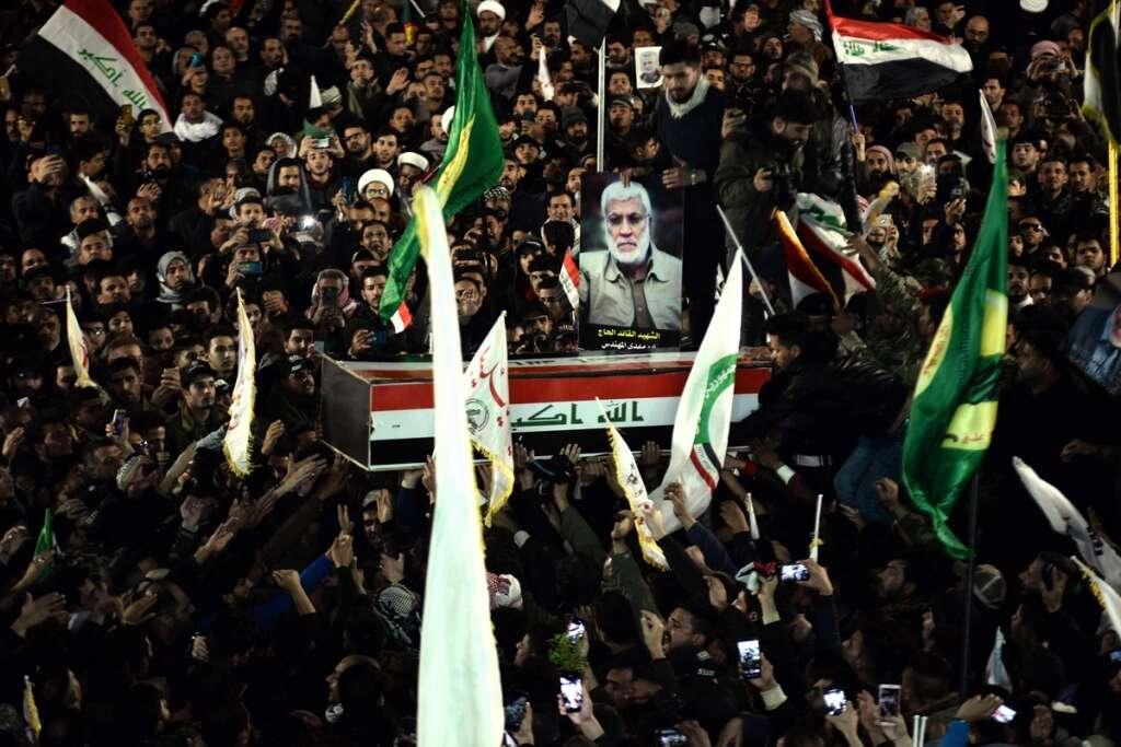 iraq, iran, us, trump, najaf, al mohandi, soleimani