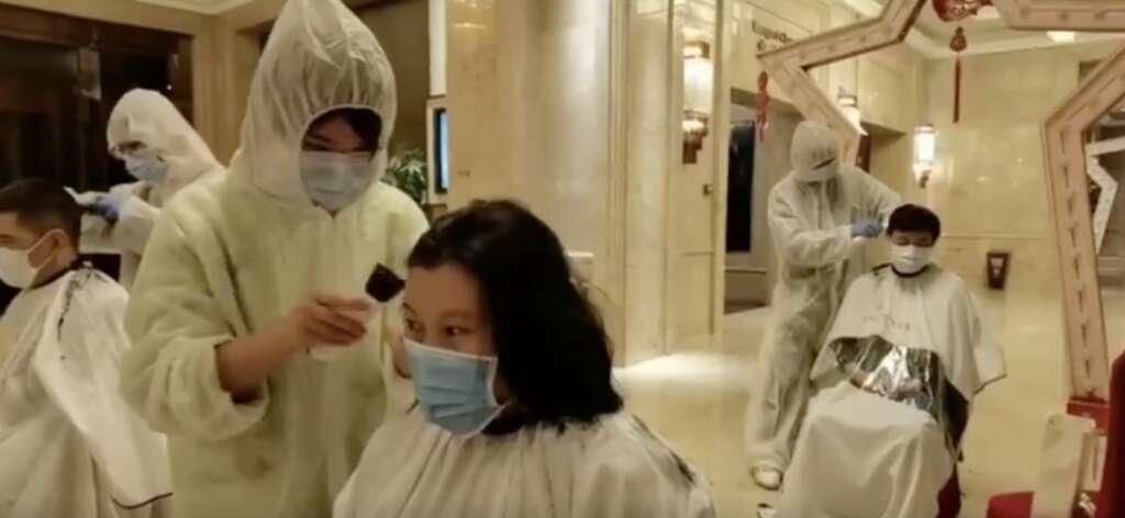 wuhan, hair shaving medical staff, coronavirus, covid19
