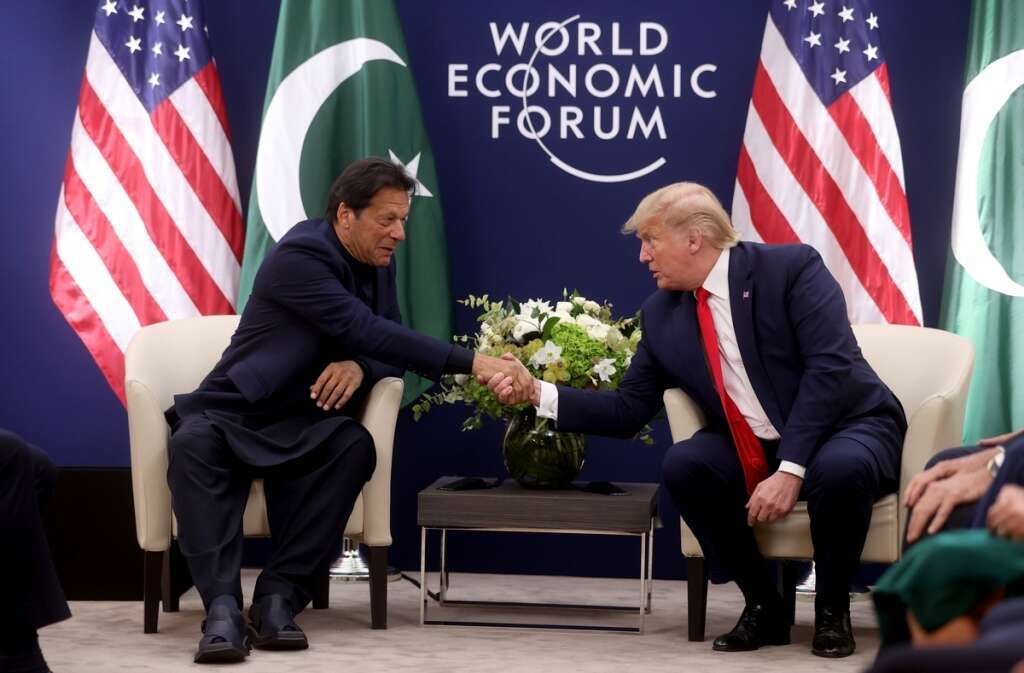 Image result for pics of trump and imran at davos