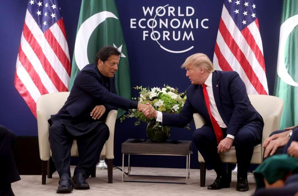 trump, imran khan, pakistan, kashmir, india, modi, davos