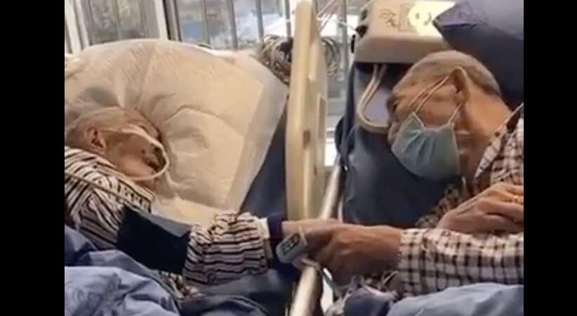 china virus, coronavirus, wuhan virus, elderly couple viral video