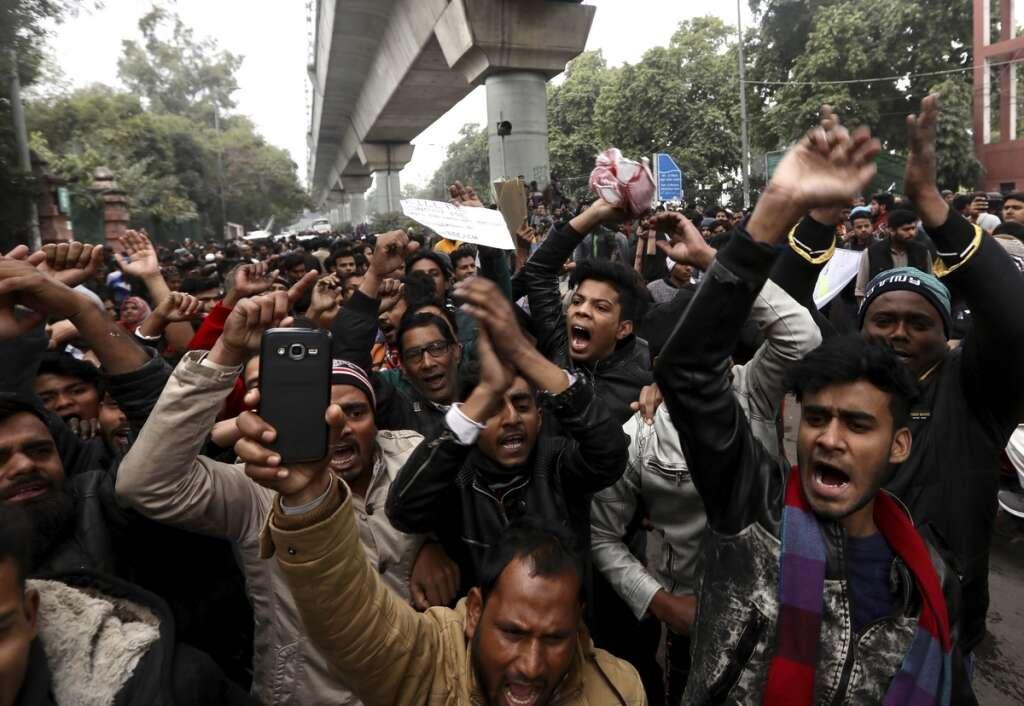 india protests, CAA protest, arson at Jamia Millia, Modi, Amit Shah, Muslims