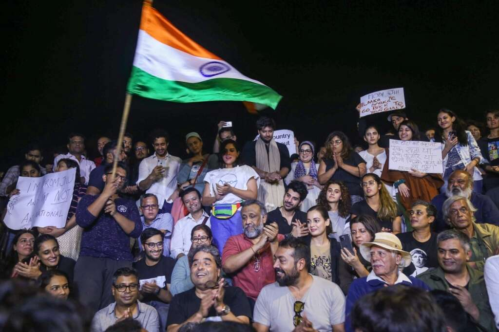 Bollywood protest, jnu attacks, Anurag Kashyap, Taapsee Pannu, Zoya Akhtar, Vishal Bhardwaj, CAA, Modi, Amit Shah