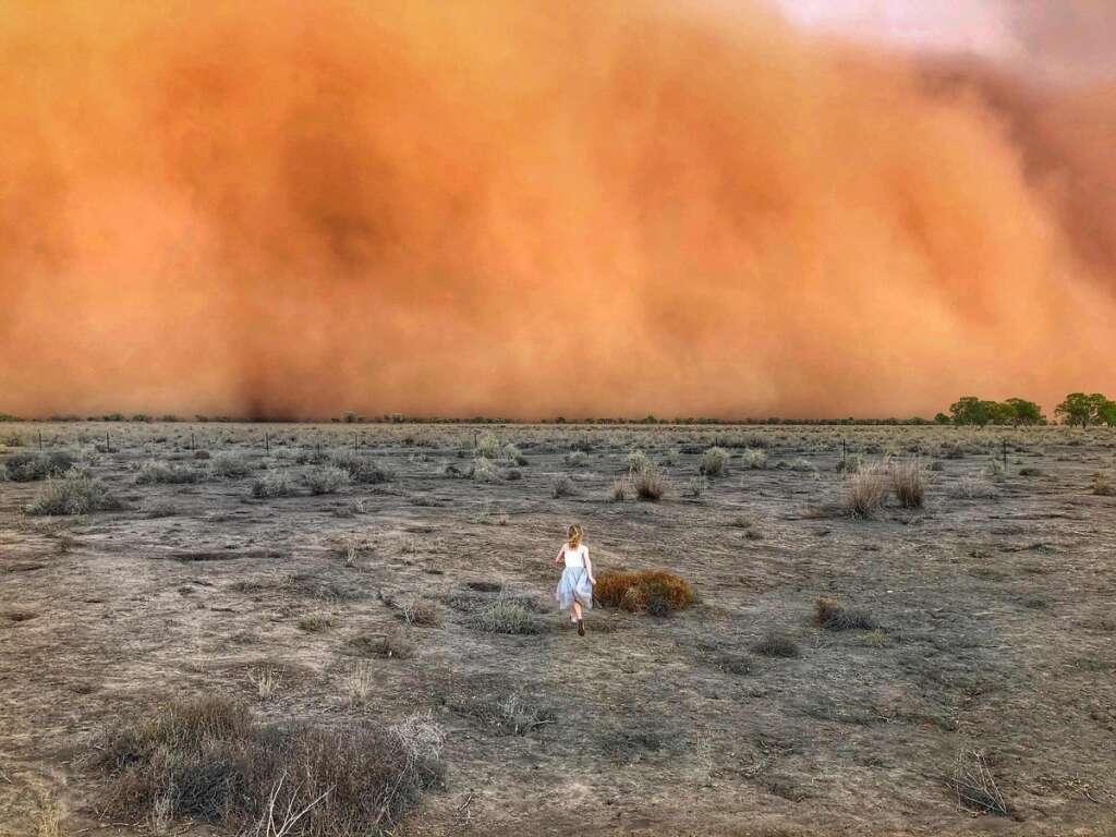 australia bush fires, dust storm, hail
