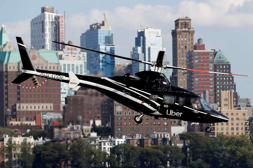 uber chopper taxi, uber taxi, viral cheap helicopter ride