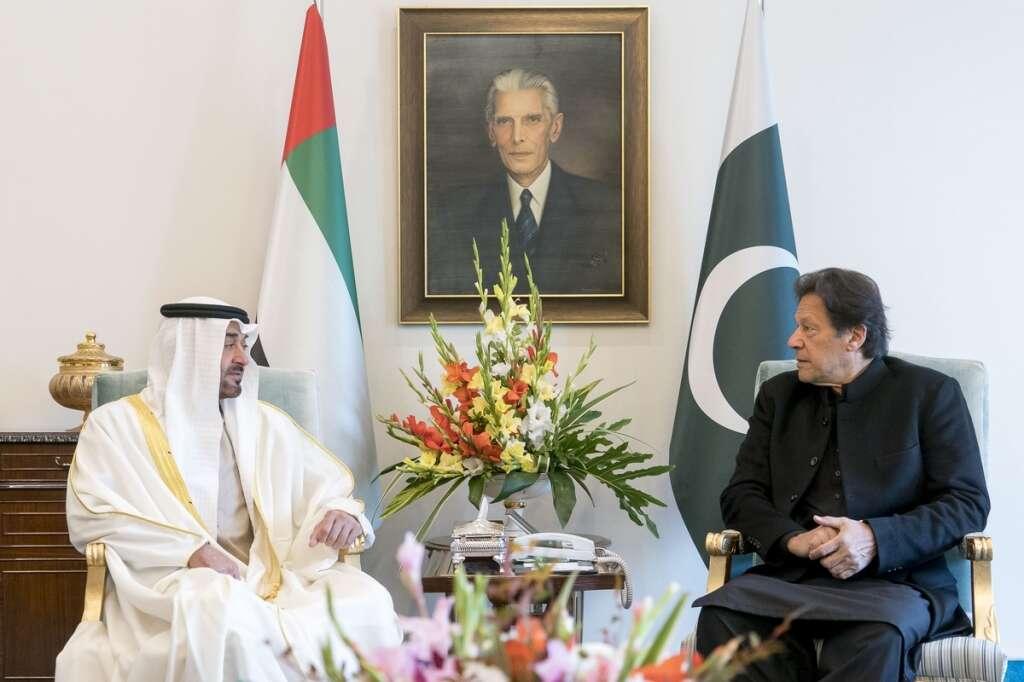 sheikh mohamed bin zayed, pakistan, imran khan, uae, pti