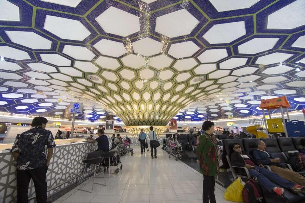 abu dhabi airport, uae airport terminal closed, dubai airport, dxb, coronavirus in uae