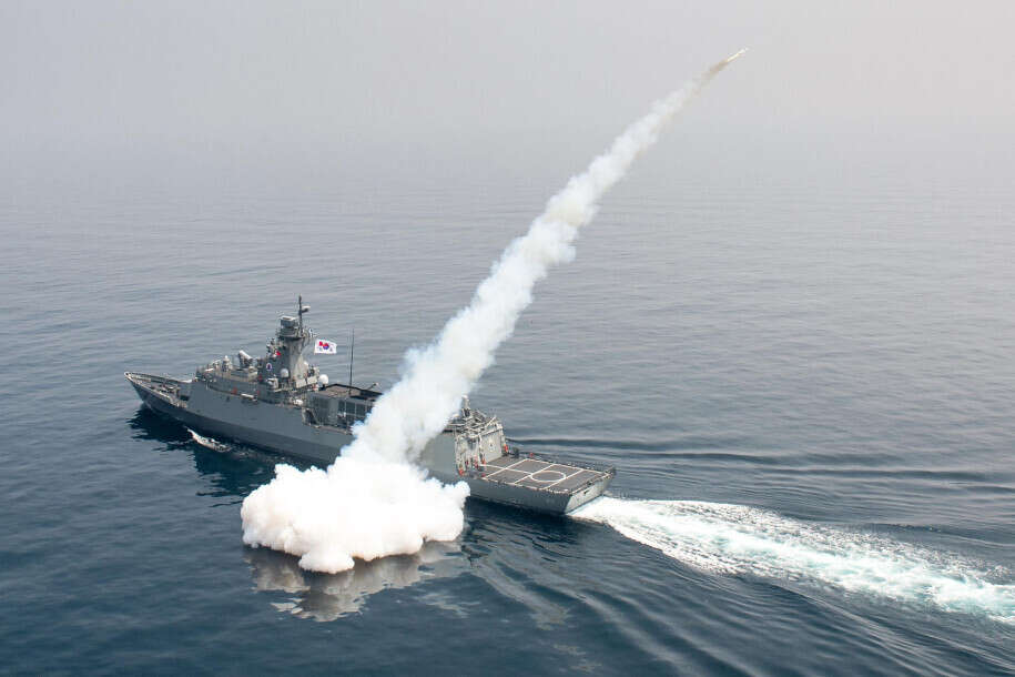 South korea, north korea, missile fired to guide ship
