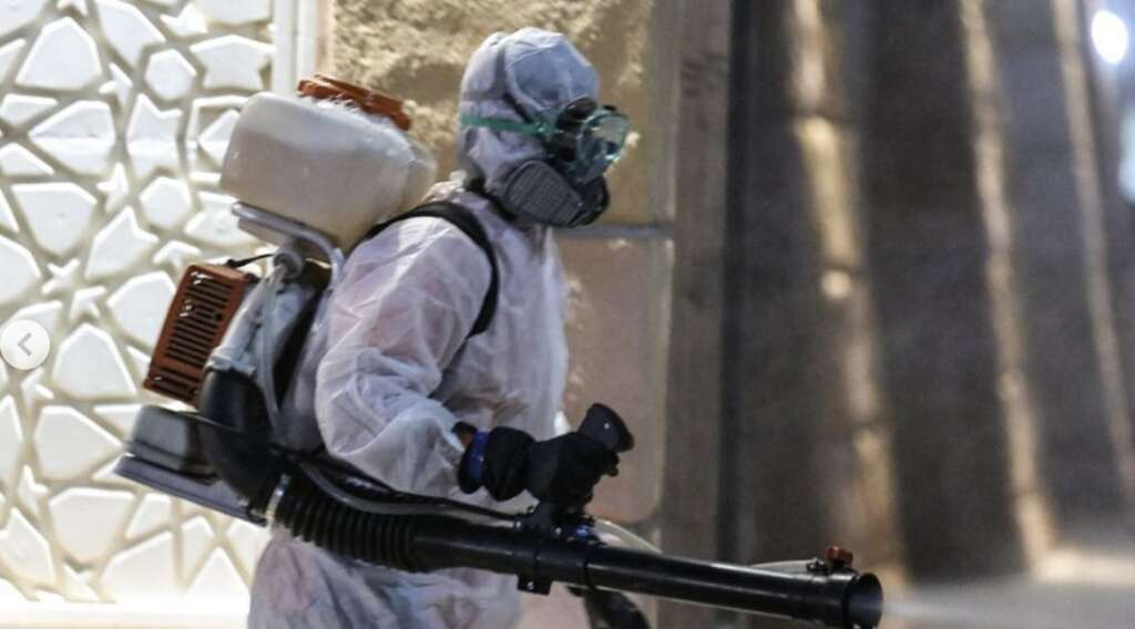 uae sterilisation drive, uae fights covid19, coronavirus pandemic, rak police, 24-hour sterilisation