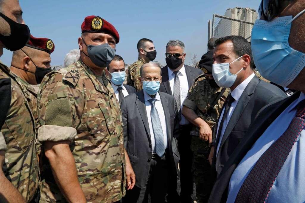 beirut blasts, lebanon, Aoun