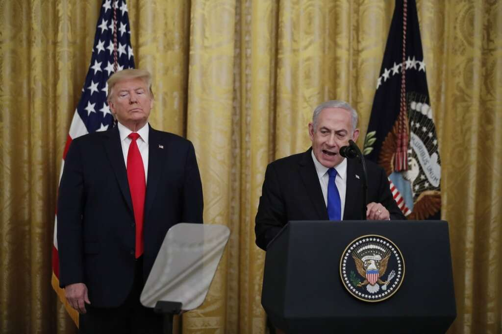trump, netanyahu, middle east peace, deal of the century, palestine