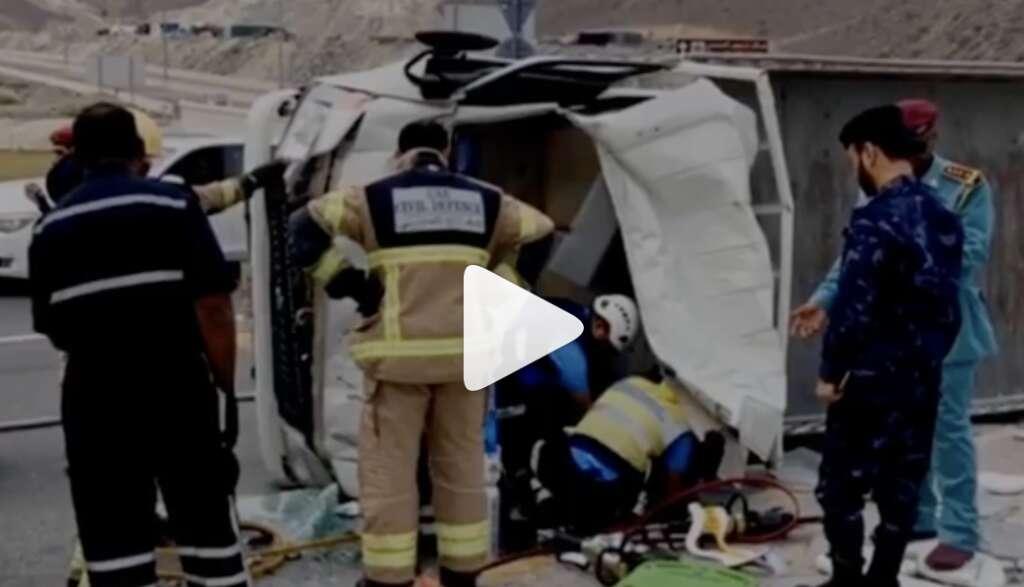 uae accident, uae traffic, uae crash, khorfakkan crash