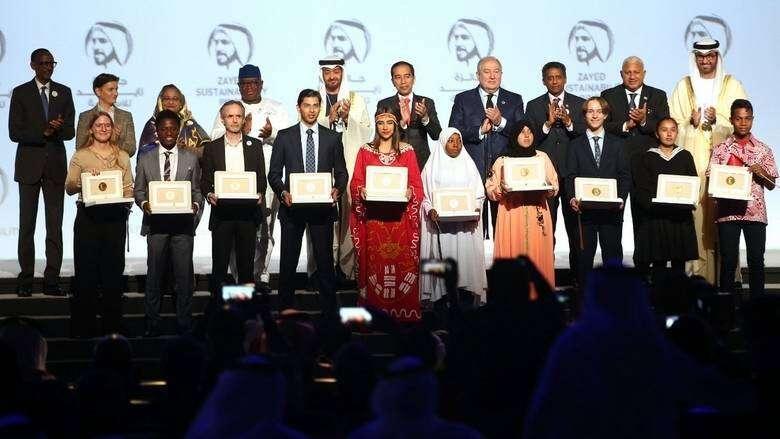 uae prize, sheikh zayed sustainability prize, dubai, abu dhabi