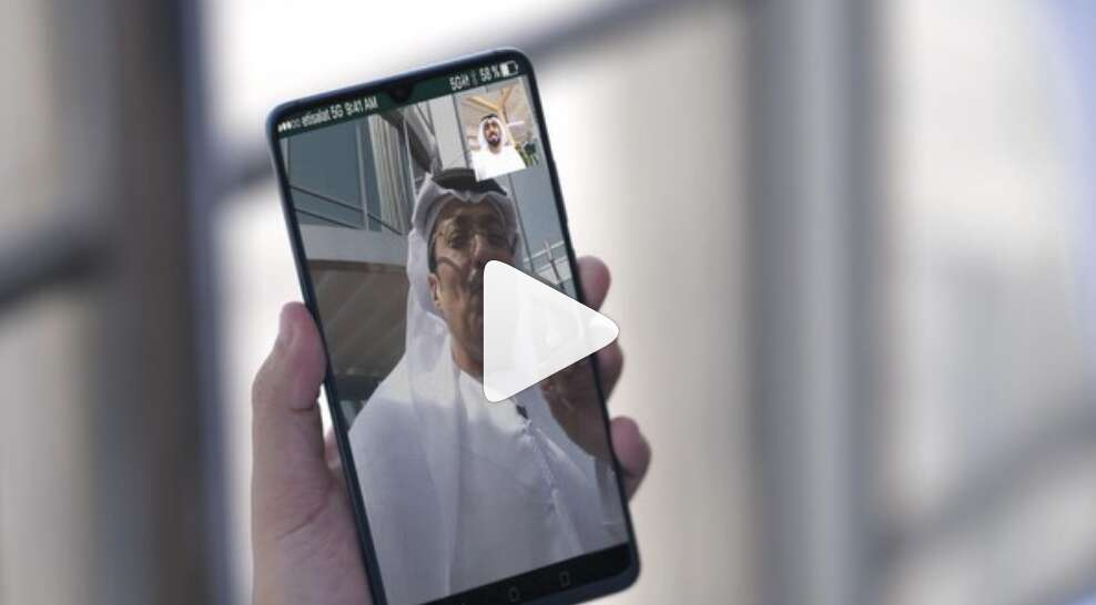 dubai, burj khalifa, etisalat, 5g calls, video calls dubai, skype