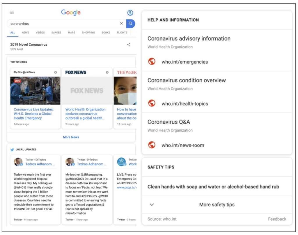 coronavirus, google, alert