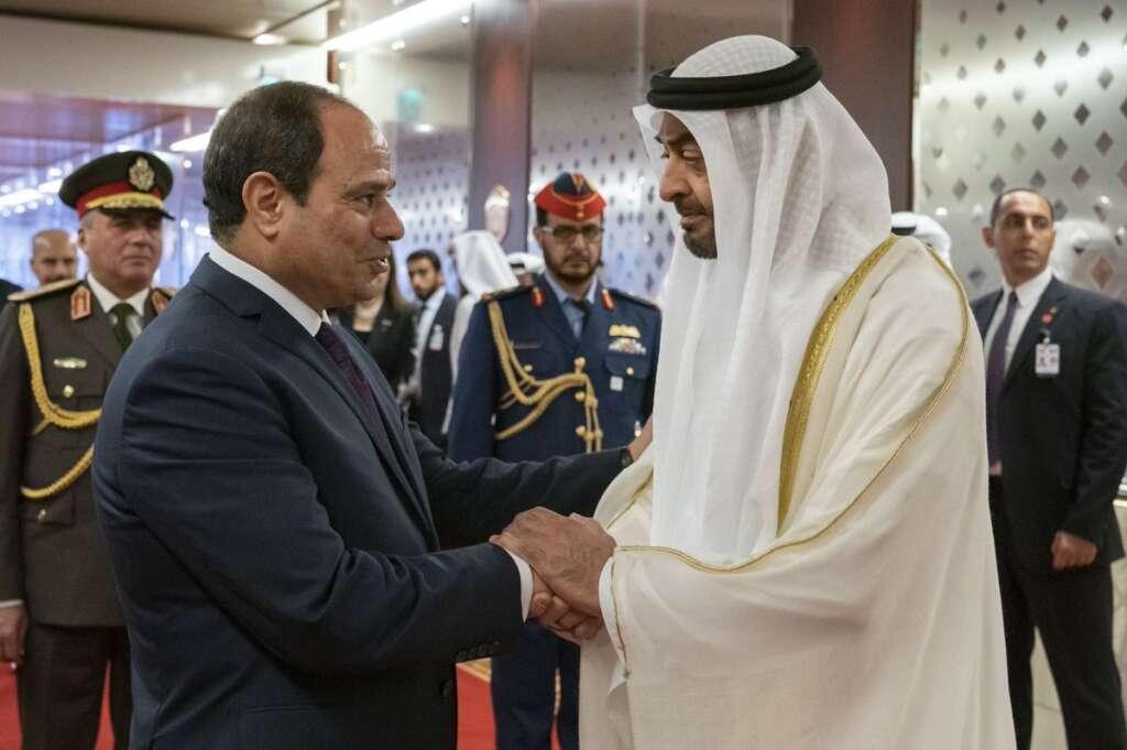 sheikh mohamed bin zayed, uae, egypt, sisi